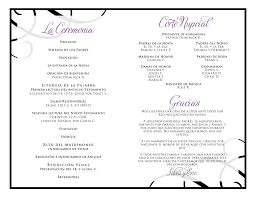 black wedding programs wedding ideas tri fold printable wedding program via etsy