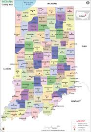 Illinois Map With Counties by Indiana County Map Indiana Counties
