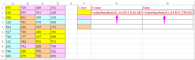 how to count and sum cells based on background color in excel