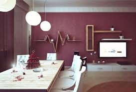 Terrific Purple Dining Room Idea With Creative Handmade Wall - Dining room wall shelves