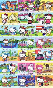 hello around the world set of 21 cards hello
