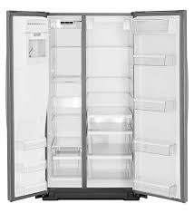 american refrigerator stainless steel in door ice