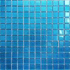 30x30cm ocean blue glitter glass mosaic tiles sheet mt0008 amazon