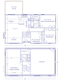 9 side split house plans small modern level plan1261088mainimage 2