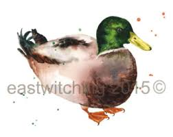duck print etsy
