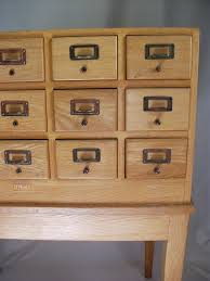 library card catalogue cabinet