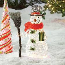 lighted snowman decoration clear lights indoor outdoor