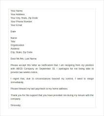 sample resignation letter no notice 7 free documents in pdf