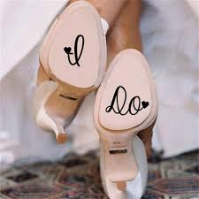 wedding shoes and accessories i do personalised wedding shoes decal vinyl novelty stickers