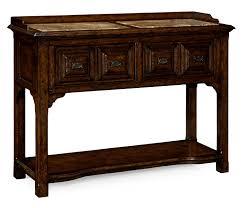 style dark oak buffet or serving table