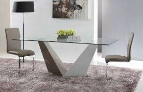 Designer Glass Dining Tables Vertex Contemporary Glass Dining Table Modern Dining Dining