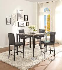 Wall Art For Dining Room Contemporary Amazon Com Homelegance 2601 36 Faux Marble Top Table Black