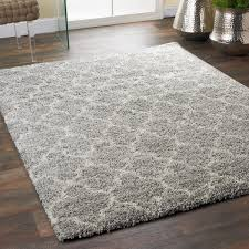 lofty trellis plush area rug shades of light