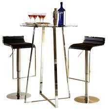 Bar Table And Stool Set Ursula B 3 Pc Contemporary Bar Table U0026 Adjustable Stools Set