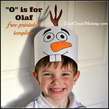 free printable olaf hats olaf hat olaf and free printable