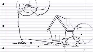 how to draw spring كيف ترسم فصل الربيع youtube