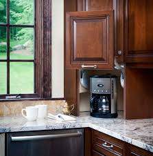 Small Kitchen Appliances Garage With Tiled Backsplash by 13 Best Small Kitchen Appliance Hiders Images On Pinterest