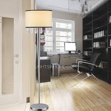 Best Lamps For Bedroom Alloy Base Fabric Shade Crystal Floor Lamp For Bedroom