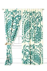 red and aqua curtains teal paisley curtains from love their stuff
