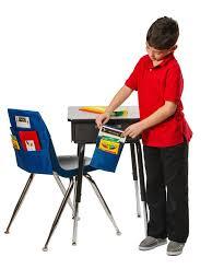 Desk Storage Organizers E Sack Stick Store Classroom Pack