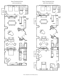Hotel Suite Floor Plans Swan And Dolphin Presidential Suites Suites Swandolphin Com