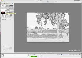 how to create a framed pencil sketch portrait of your house