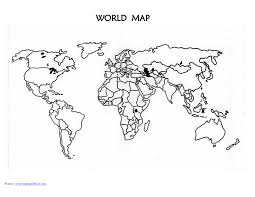 5 best images of printable blank world map outline printable