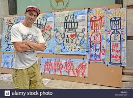 portrait of new york city graffiti artist mark alequin in front of