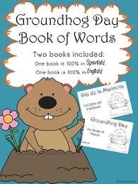 groundhog word book 2 books english spanish tpt
