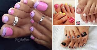 new nail design ideas easy cute summer cover toe nail design