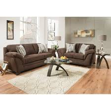 Livingroom Sofa by Jensen Living Room Sofa U0026 Loveseat Chocolate Jensen2pcchlr