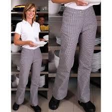 pantalon de cuisine femme pantalon noirs et blanc femme dans divers achetez au meilleur prix