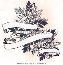 engraved ribbon vintage beautiful design element stock vector 268964606