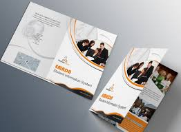 free orange business tri fold brochure template psd titanui