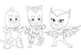 pajama hero connor catboy pj masks coloring games