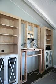 Built In Bookcase Kits Iheart Organizing Diy Fireplace Built In Tutorial