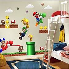 chambre mario bros nouveau mario bros amovible stickers muraux decal décoration
