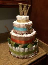 woodland baby shower diaper cake baby shower pinterest