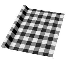 gingham wrapping paper black and white gingham pattern wrapping paper zazzle