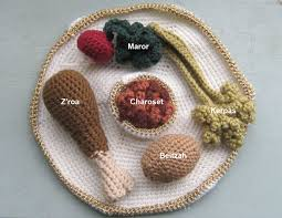 what goes on a seder plate for passover passover seder plate amigurumi style it