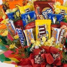 best friend gift basket candy bouquets