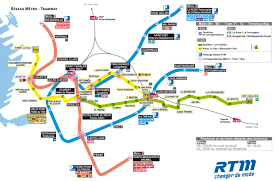 Detroit Metro Map by Official Map Metro And Tramway Marseille France 2012 Transit