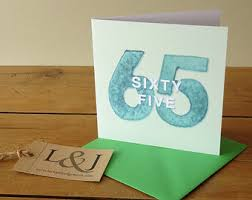 65th birthday card etsy