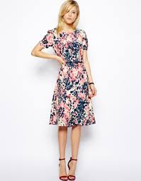 printed knee length midi dresses ideas for girls u2013 designers
