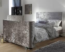 Milan Bed Frame Bed Company Newark 4ft 6 Tv Bed Crushed Velvet