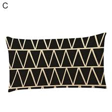 rectangle geometric pattern pillow case throw cushion cover home