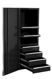 Garage Storage Cabinets Black Metal Garage Storage Cabinet With Drawers Decofurnish