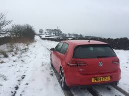 volkswagen winter vw golf gti on michelin winter tyres report 9 evo