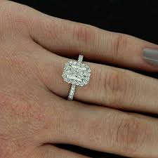 radiant cut halo engagement rings radiant cut engagement ring search when i say i do