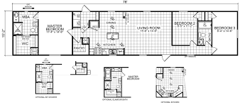 Floor Plans For Mobile Homes Single Wide Sabine 16 X 76 1152 Sqft Mobile Home Factory Expo Home Centers